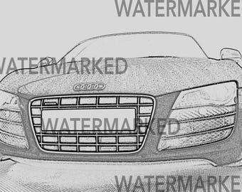 Audi R8 Digital Print