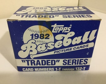 1982 Topps Baseball Traded Series Factory Set (132 Cards)