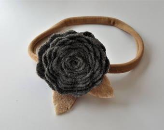 Pewter Rose Headband