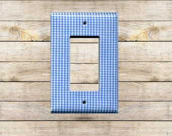 Blue Gingham II Decorative Switchplate