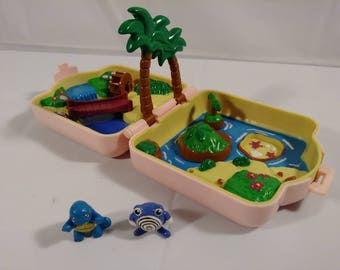 Vintage Pokemon Polly Pocket With Dolls