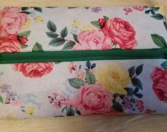 Floral Zipper Bag
