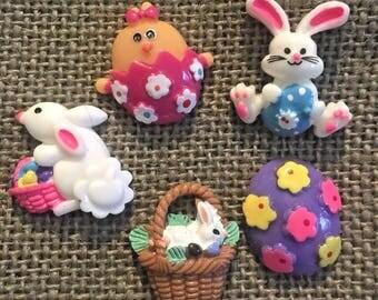 Easter Flatback resin -  Easter bunny, eggs, chick, etc