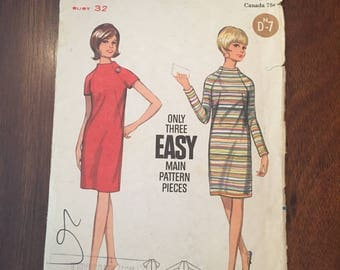 Vintage Butterick Pattern 4430 - Size 12 Dress