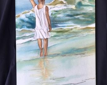 My Memories        16 x 26      Original Watercolor Batik