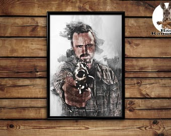 Jesse Pinkman poster Breaking bad wall art home decor print