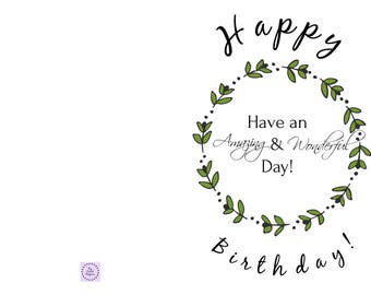 Birthday card with cute fonts