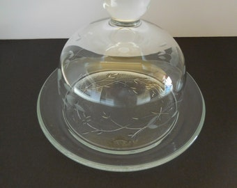 Vintage Princess House/Heritage Pattern/Dome Lid Butter Dish