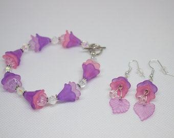 pink & purple flower set