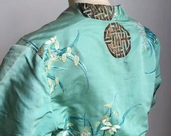 1930s silk  Oriental Embroidered Bolero
