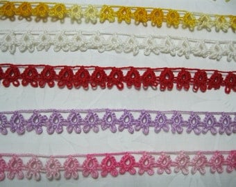 Choice of One Yard of Vintage Cotton Lace Tatting