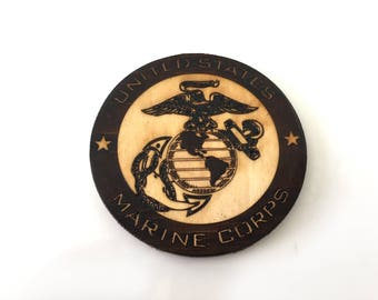 US Marine Corps Coaster Set