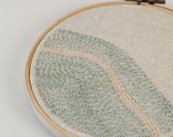 Wave embroidery