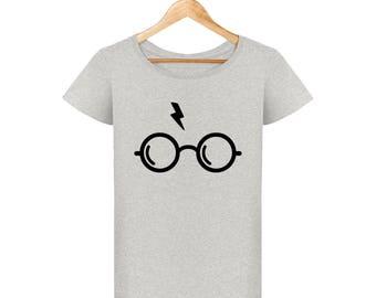 Harry potter glasses and lightning bolt woman T-shirt