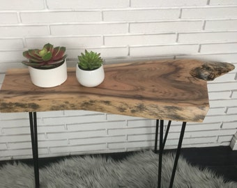 Farmhouse Live edge sofa table