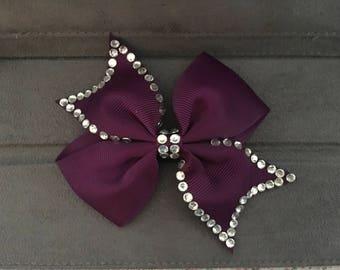"Approx. 4"" Satin bow with diamantés"