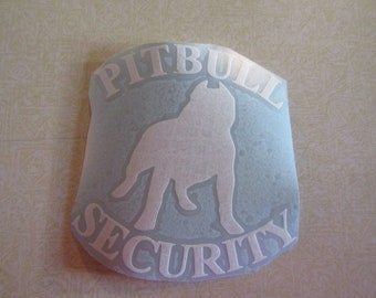 Pitbull Security Decal