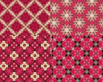 Hot Pink Pattern Set