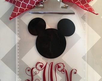 Mickey Mouse Clipboard, Monogram clipboard