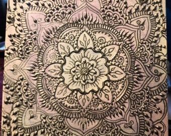 Hand painted Henna Inspired Mandala