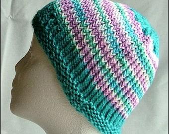 Adult Hand-Knit Cotton Beanie