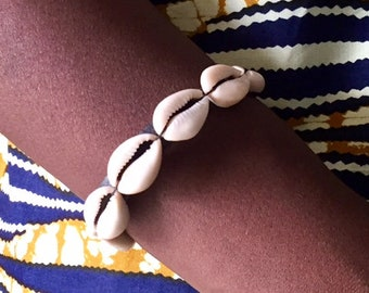 African leather bracelet cowrie leather bracelet genuine leather bracelet ethnic bracelet african cowrie shell bracelet