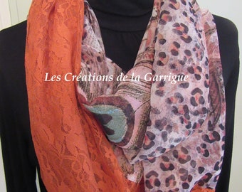 Spring Snood crepe and lace