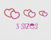 Machine Embroidery Design Heart Love embroidery designs two heart Embroidery Pattern  Digital - Instant Download -  3 sizes 4x4 in