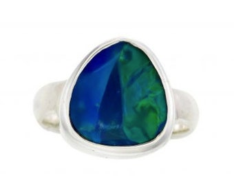 Crystal Opal Doublet Ring