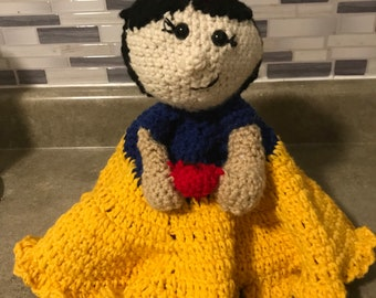 Snow White lovey security blanket