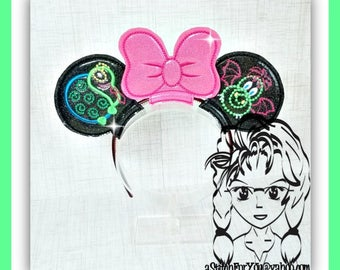ELeCTRIC PaRADE Characters (3 Piece) Mr Miss Mouse Ears Headband ~ In the Hoop ~ Downloadable DiGiTaL Machine Emb Design by Carrie