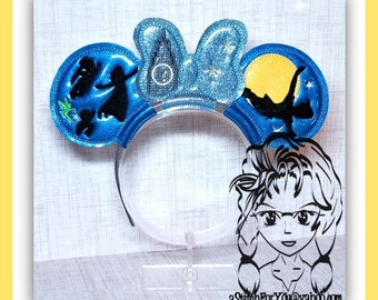 NEVERLAND Pan & KiDS (3 Piece) Mr Miss Mouse Ears Headband ~ In the Hoop ~ Downloadable DiGiTaL Machine Emb Design by Carrie