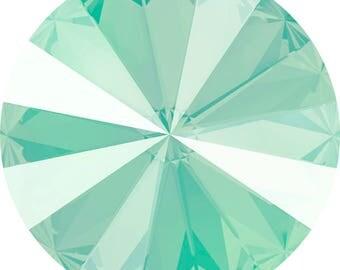 Swarovski Crystal Rivoli, #1122, 14mm, 4 pieces, Lacquer Pro - Mint Green