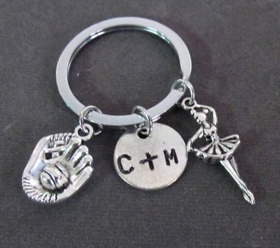 Best Catch Keychain, Dad Daughter Key Chain, Gift for daughter, Gift for dad, Ballet Dancer Charm,Daddy's Best Catch, Free Shipping In USA