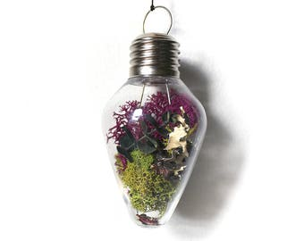Terrarium Drop Moss Small light bulb Ornament - non breakable