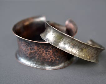 Anticlastic Cuff Bracelet- narrow or wide- in nickel, copper, or sterling silver