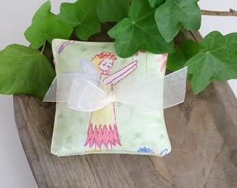 Petite Lavender Sachets, Set of Three, Apple Green Fairy Sachets