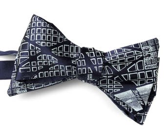 Washington DC Map Bow Tie. 1791 L'Enfant Plan, District of Columbia Map, Self Tie Bow Tie. Gift for politician, senator, mayor, congressman