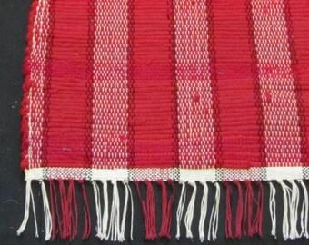 "Rag Rug  ""Really Red"" in Wool"