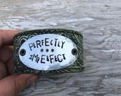 Word Leather Cuff-Blessed Collection-Word Cuff-Perfectly Imperfect