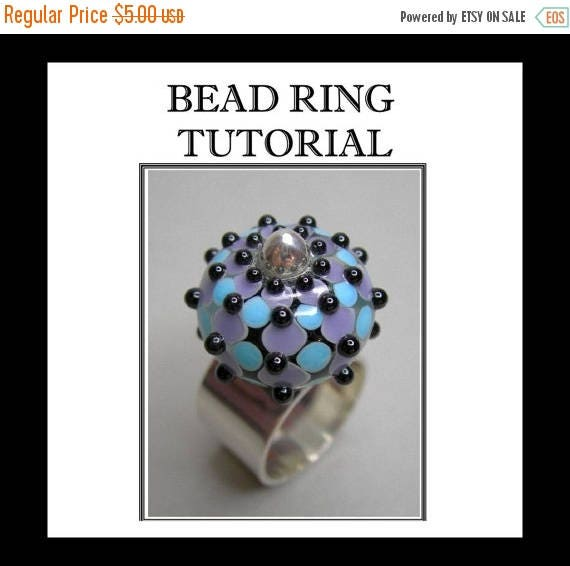 ON SALE TODAY Bead Ring Tutorial, Jewelry Tutorial, Silver Ring Tutorial