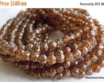 20% Clearance SALE 3mm English Cut Beads - c - Czech Glass Beads - 50 pcs (SP - 5)