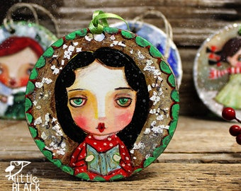 Christmas tree decoration, hand painted