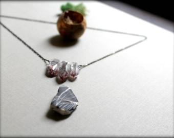 Lepidocrocite Quartz Necklace, Freeform Crystal Necklace, Healing Crystal Necklace