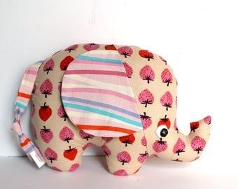 Baby Toy, Plush Elephant, Elephant Softie, Elephant Stuffie, Baby Girl Gift