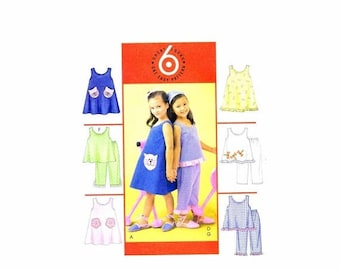 SALE Girls Dresses Tops Pants McCalls 4006 Sewing Pattern Size 3 - 4 - 5 - 6 OR Size 6 - 7 - 8 Uncut