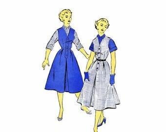 SALE 1950s Misses V-Neck Jumper Blouse New York 1237 Vintage Sewing Pattern Size 17 Bust 35