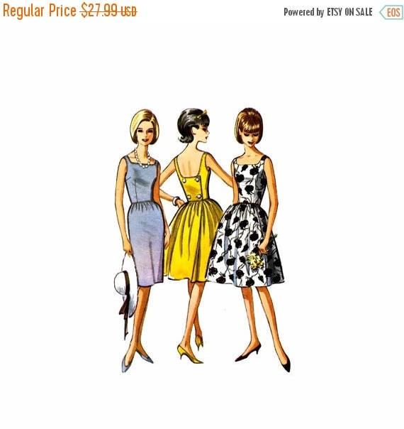 SALE 1960s McCalls 7248 Back Wrapped Slim or Full Skirt Dress ...
