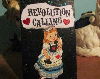 Revolution Calling {Original Collage}