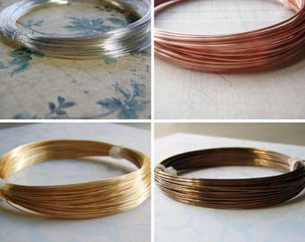Half Hard Plated Round Jewelry Wire COILED Four Colors Available 14 to 26 Gauge